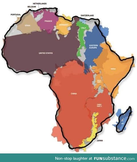 I'll admit, I underestimated the size of Africa