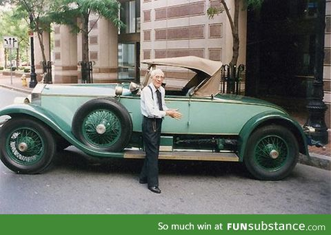 This man owned and drove the same car for 82 years