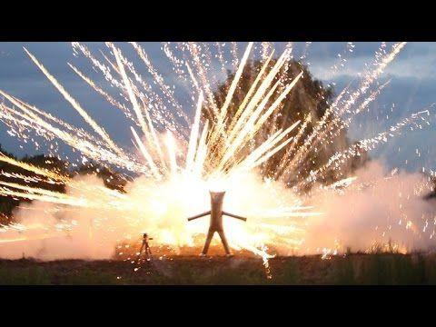 Crazy British Guy Invents An Iron Man Costume, Puts Himself In Fireworks Display