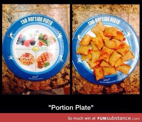 Who needs equal portions?