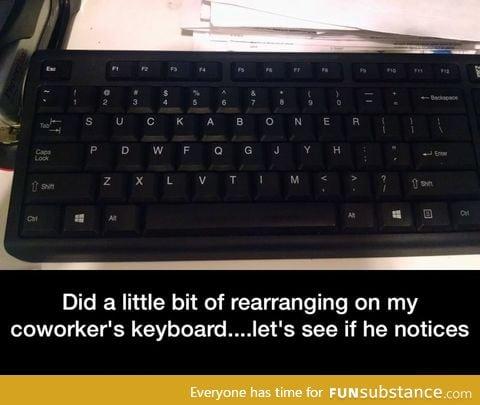 New keyboard layout