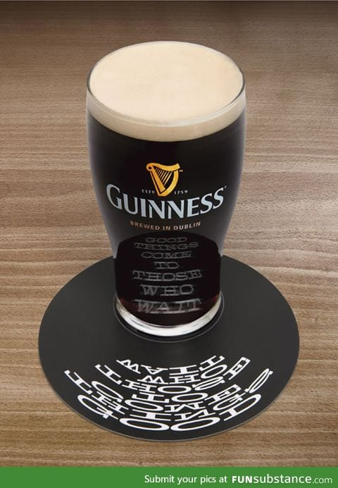 Clever advertising: Beer coaster