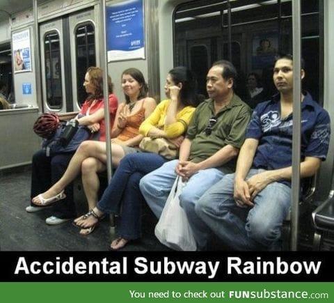 subway rainbow