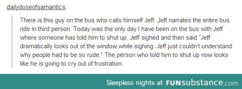 Oh jeff . .