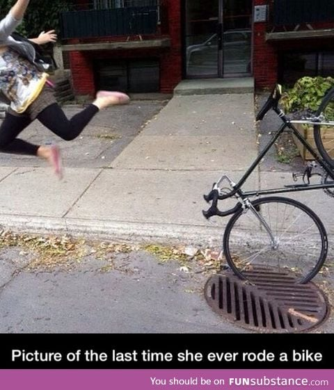 Last time riding a bike