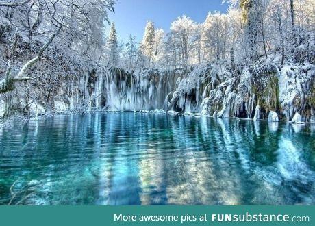 Frozen lakes in Croatia...
