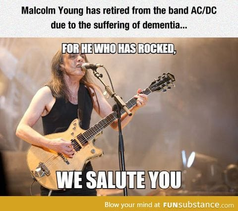 We salute you, malcolm young