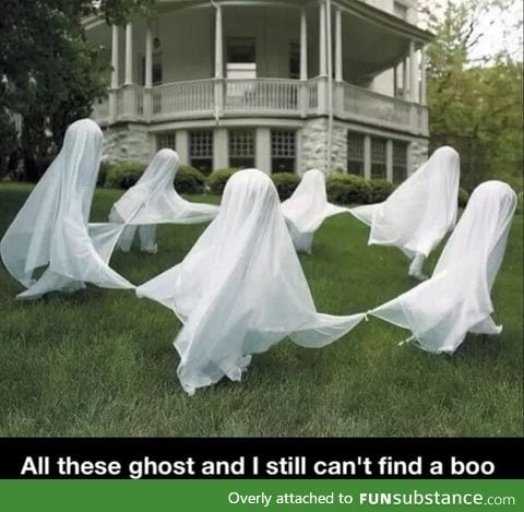 All these ghosts... But still no boo