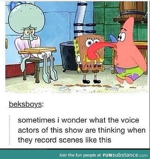 Must be weird in that recording studio