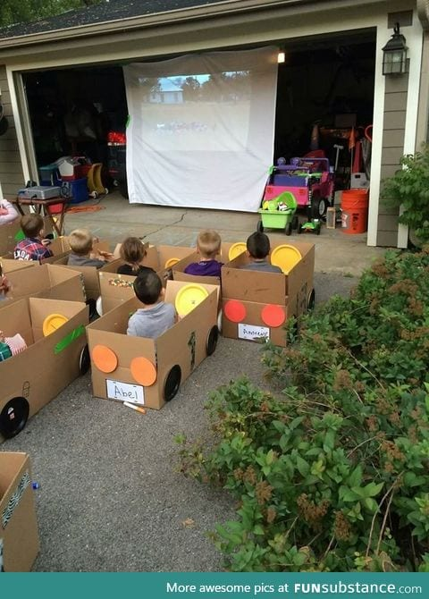 Kids birthday party idea, kids decorate their cars then