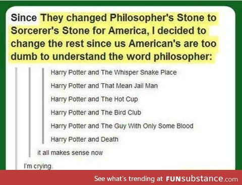 Harry potter simplified