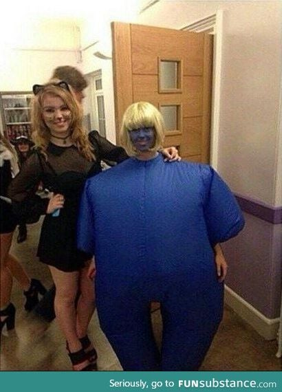 There are two types of girls on Halloween.