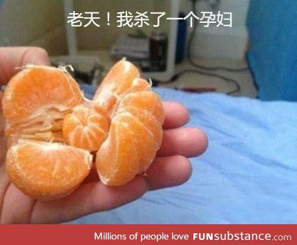 Crap! i just killed an pregnant la.... Orange