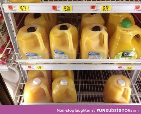 The orange juices today were a little shy