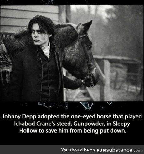 Johnny Depp.saved a horse