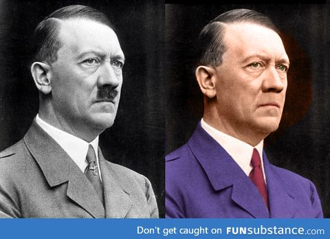 Hitler without moustache
