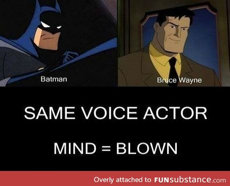 What's next? Superman and Clark Kent?
