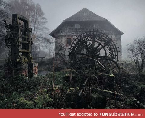 Old mill in Eastern Bavaria, Germany. a place straight out of grim's fairytale