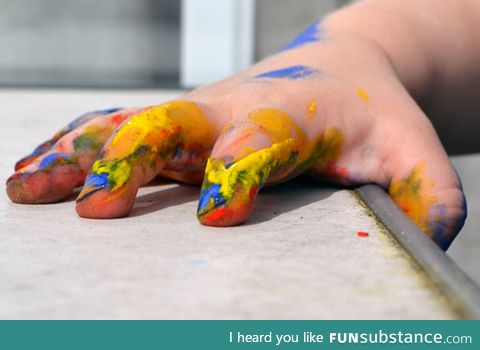 What it looks like when I finish painting my nails