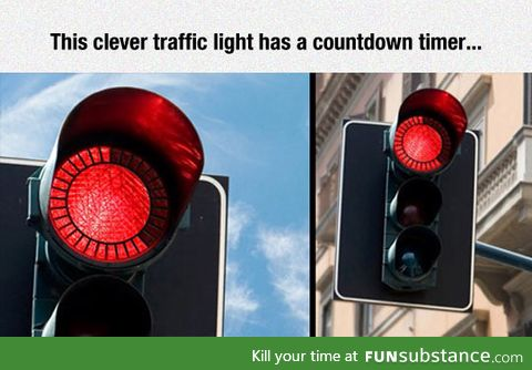 Clever traffic light with countdown timer