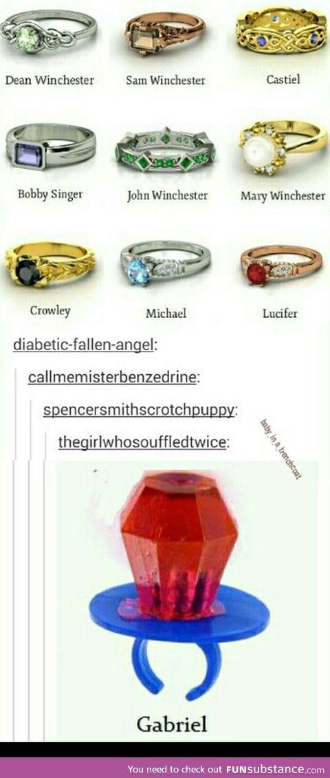 Supernatural-inspired rings