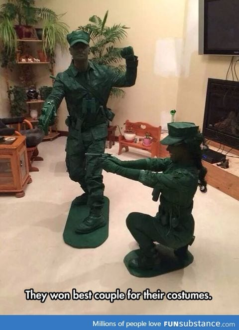 Plastic toy soldier costumes