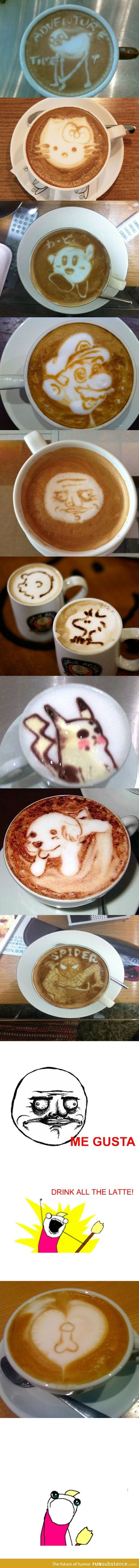 Some Amazing Latte Art