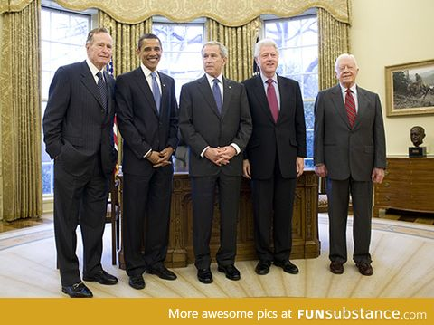 All the living US presidents together