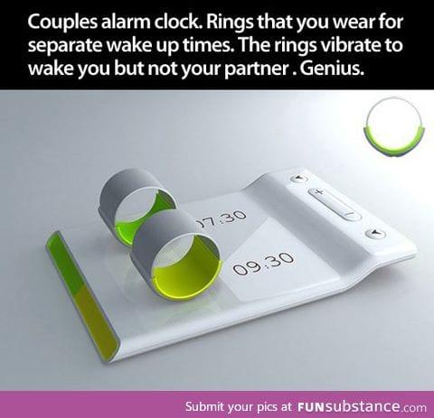 Rings alarm clock