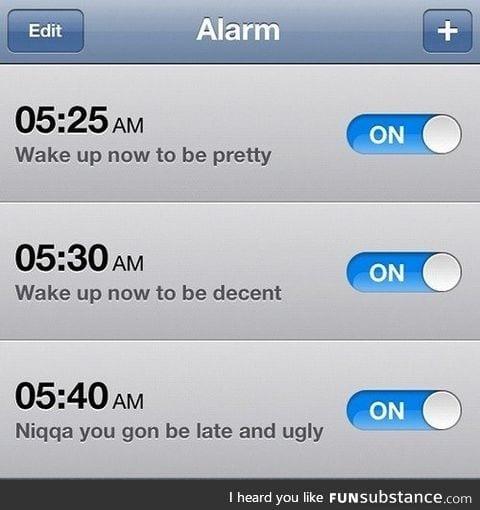 Alarm for girls