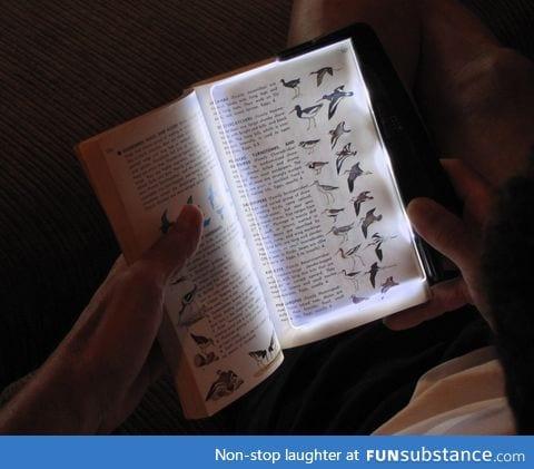 LED light for reading books at night