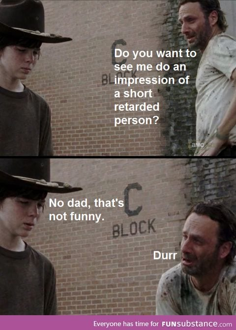 short person impression