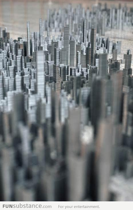 Ephemicropolis: City Made Of Staples