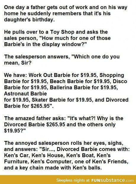 The divorced barbie doll