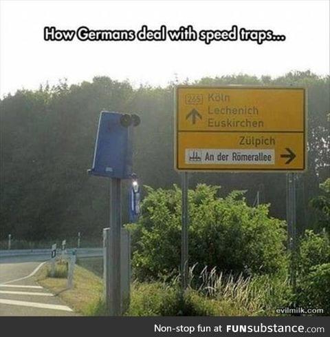 German speed traps