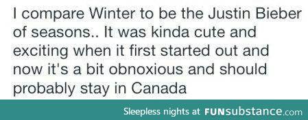 winter is like...