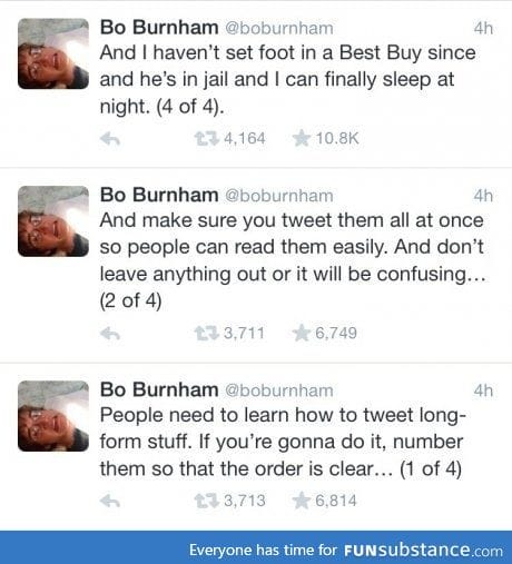 Tweet in order