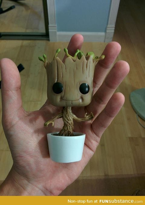 Dancing Baby Groot Bobble Head