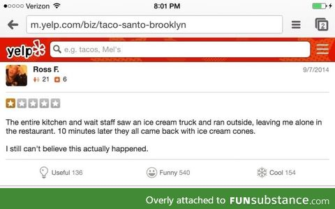 Best yelp review ever