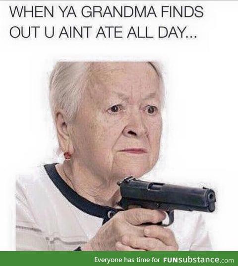 Take it easy grandma
