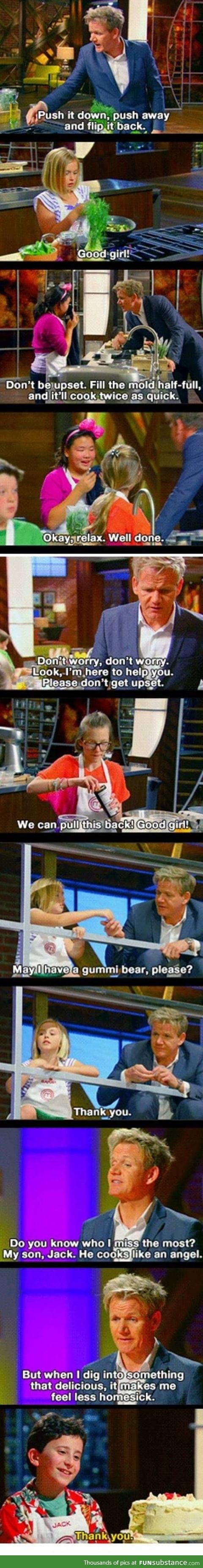 Gordon Ramsay's not in hell when it comes to kids.