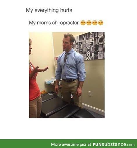 His jawline broke my hip