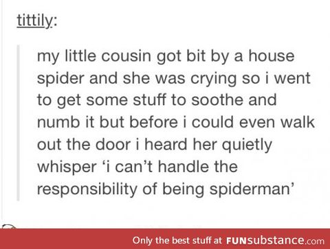 When a spider bites you