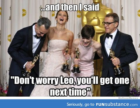 In the lights of the Oscars. I have been waiting to post this