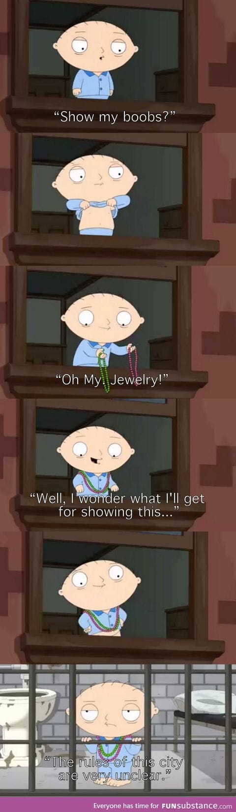 Stewie is right about New Orleans