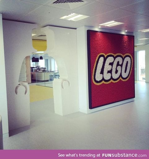 The entrance to Lego HQ