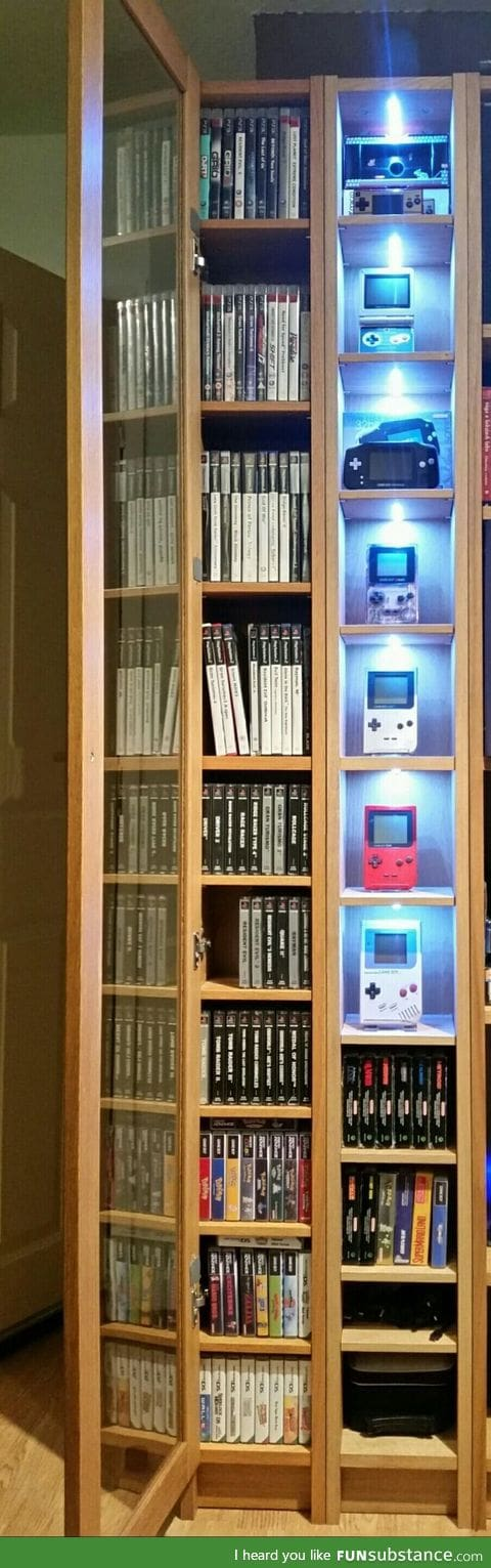 Retro gaming shelf