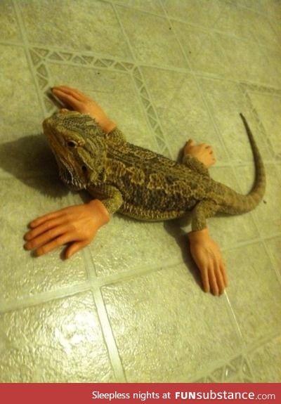 Edward lizard-hands