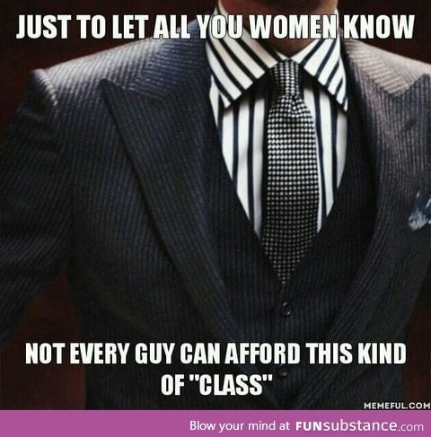 Class shouldn't be determined by just your looks