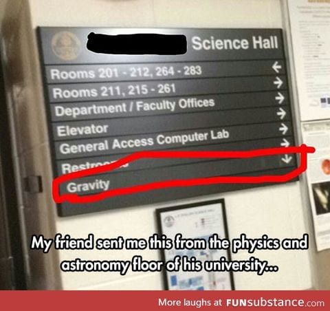 Funny science hall